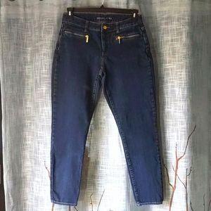 Michael Kors Skinny Fit Zip Pocket Crop Jeans